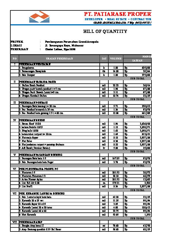 XLS) Contoh Rencana Anggaran Biaya (RAB) xlsx   mifta farid