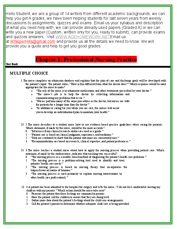 DOC) TEST_BANK_222 doc | sharlly joshef - Academia edu