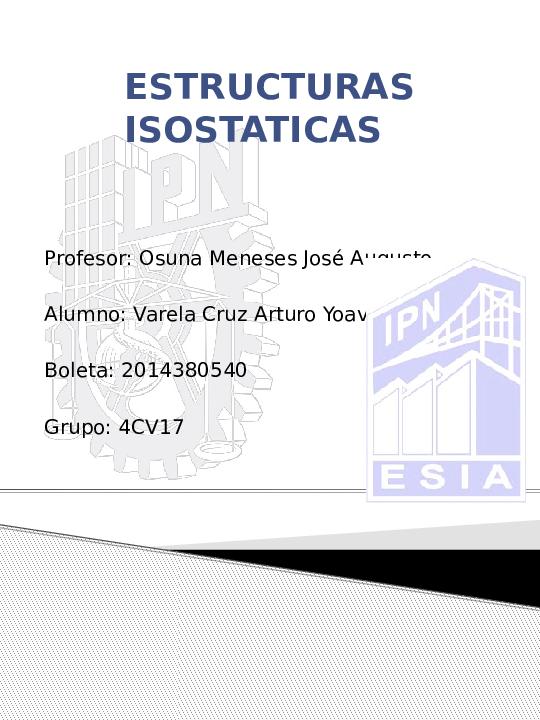 Ppt Estructuras Isostaticas Arturo Yoav Academia Edu