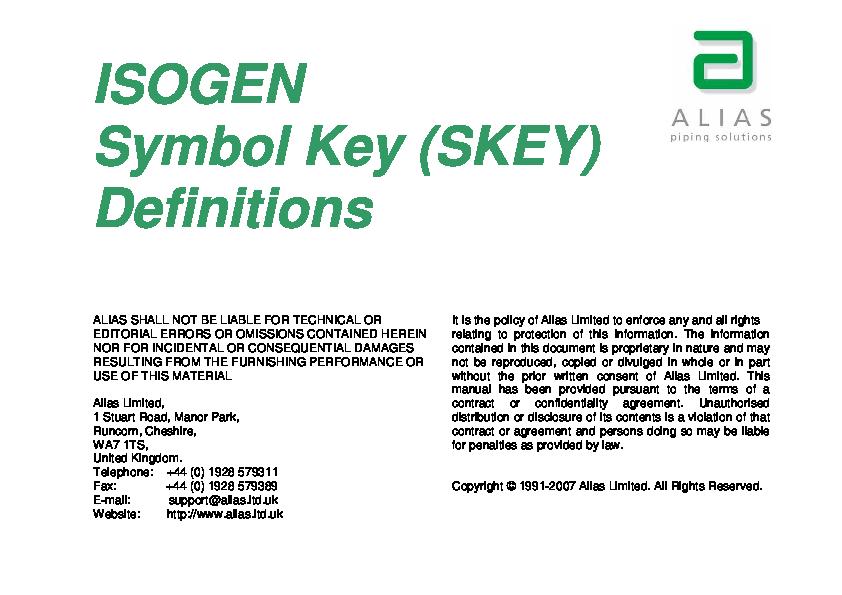 PDF) ISOGEN Symbol Key (SKEY) Definitions | marcus austria
