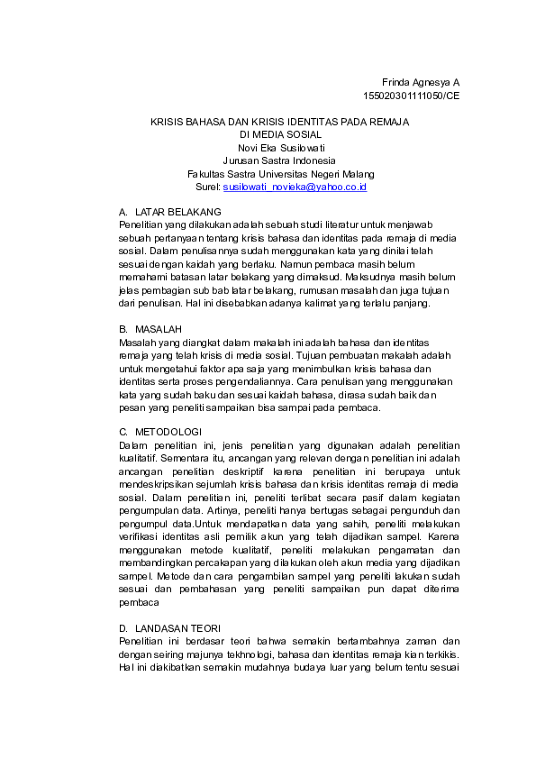 Doc Review Makalah Frinda Agnesya Academia Edu