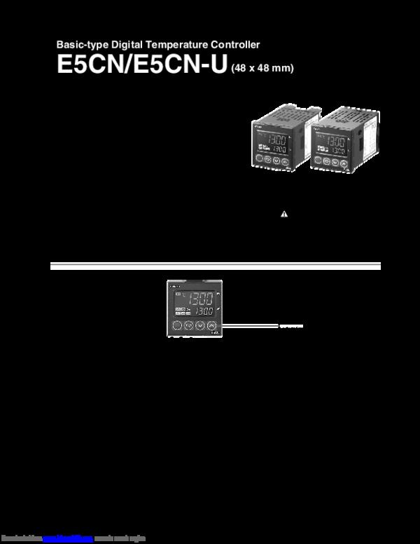 PDF) E5CN Omron datasheet.pdf | Noval Fernando - Academia.edu