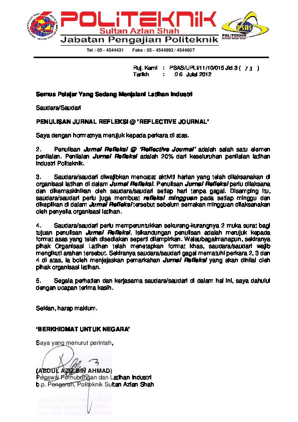 Pdf Penulisan Jurnal Refleksi Muhamad Afif Academia Edu