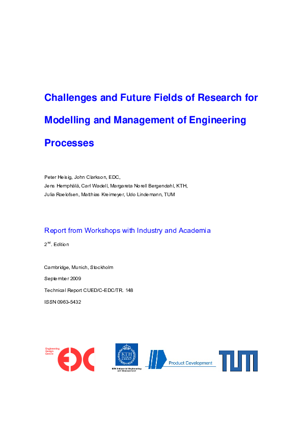 PDF) Challenges and future fields of research for modelling