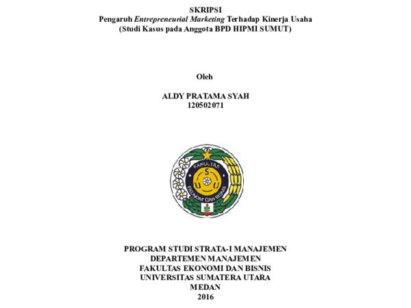 University Of Sumatera Utara Manajemen Academia Edu