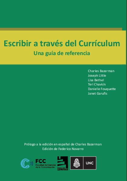 PDF) Escribir a través del Currículum Una guía de referencia