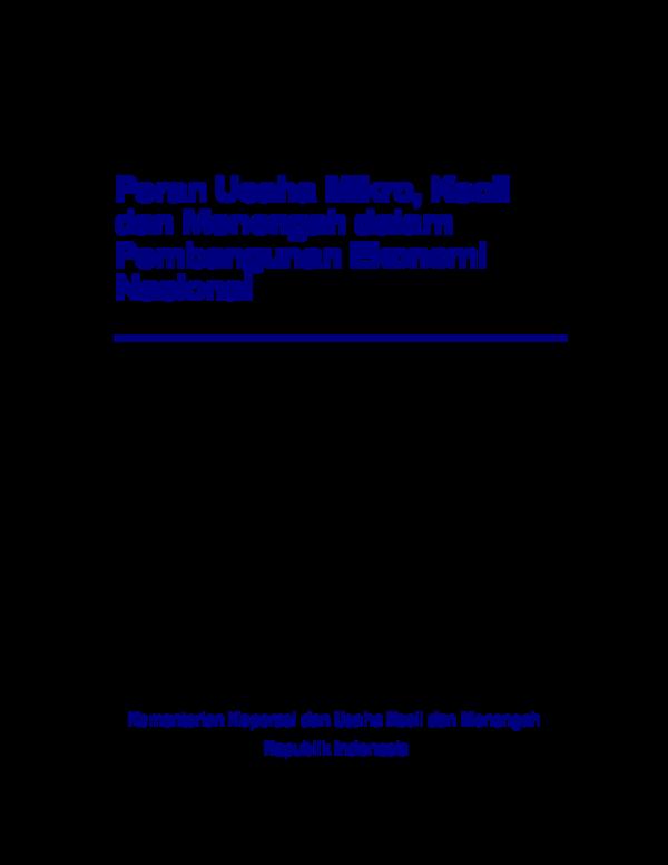(PDF) Kementerian Koperasi dan Usaha Kecil dan Menengah ...