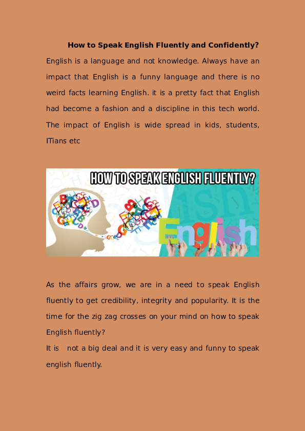 How to learn speaking english fluently pdf