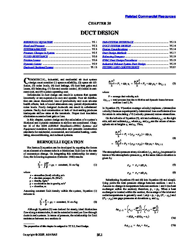 PDF) ASHRAE DUCT DESIGN pdf | Carlos Martinez - Academia edu