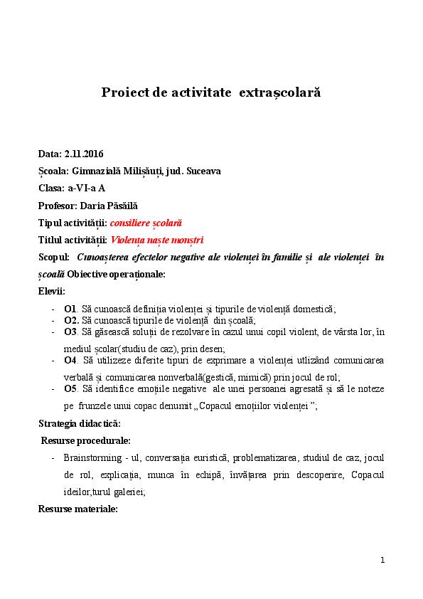 Doc Proiectactconsiliereviolentanaste Monstridocx