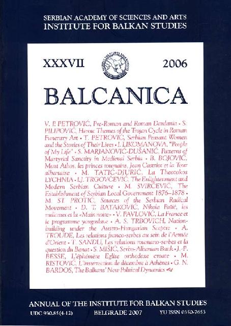 4d3416382 PDF) Balcanica XXXVII (2006)