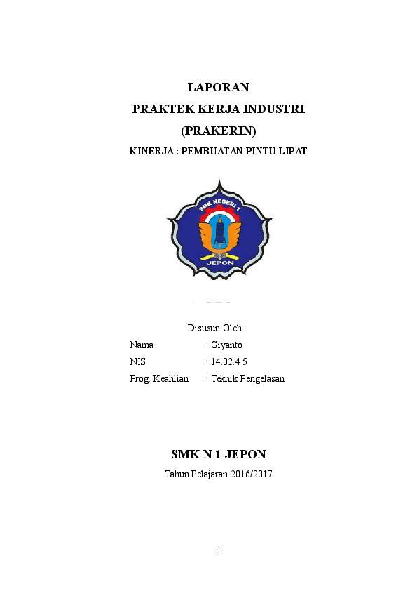 Doc Laporan Prakerin Di Bengkel Las Docx Arina Wahyu Academia Edu