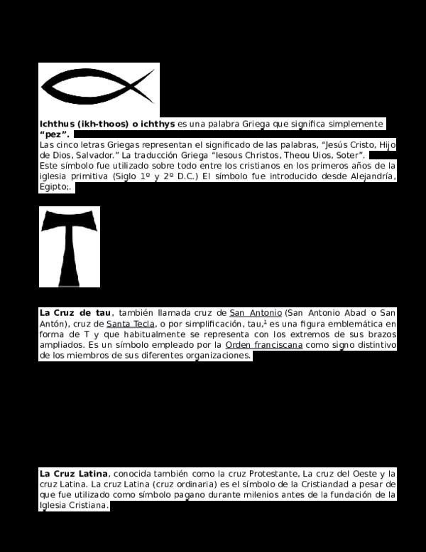 Doc Resumen De Símbolos Cristianos Iam Sun Academia Edu