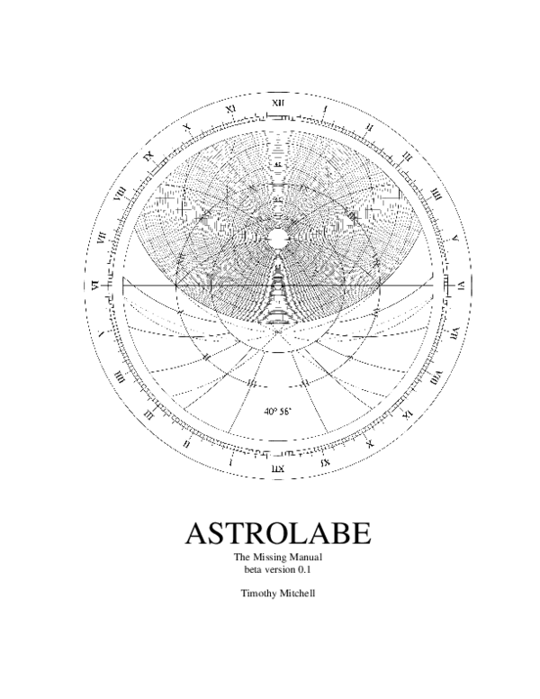 ASTROLABE The Missing Manual beta version 0.1 Timothy