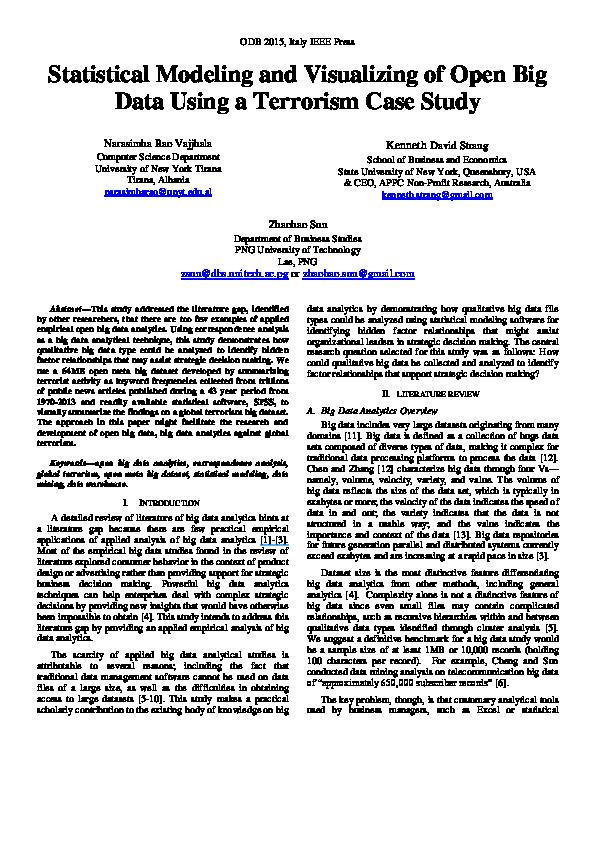 PDF) Statistical modeling visualizing of big data using a terrorism