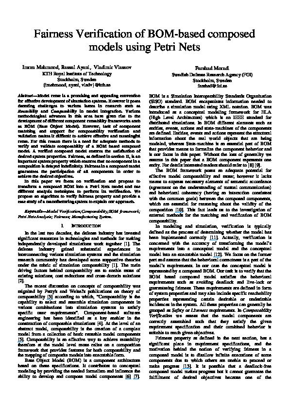 PDF) Fairness Verification of BOM-Based Composed Models
