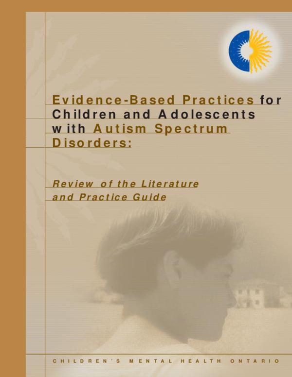 Literature review on autism spectrum disorder