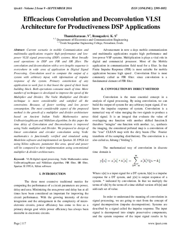 PDF) Efficacious Convolution and Deconvolution VLSI