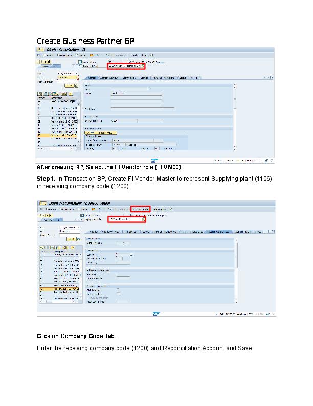DOC) Inter-company STO Config document S4 HANA | sachin