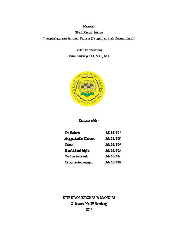 Doc Makalah Hukum Bisnis Cecep Sukmawijaya Academia Edu