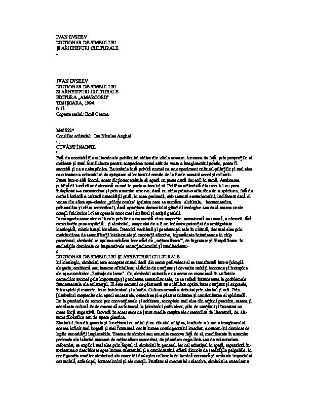 PDF) Dictionar de Simboluri Si Arhetipuri Culturale
