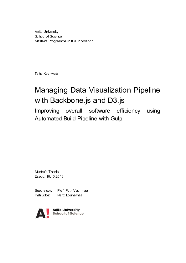 PDF) Managing Data Visualization Pipeline with Backbone js