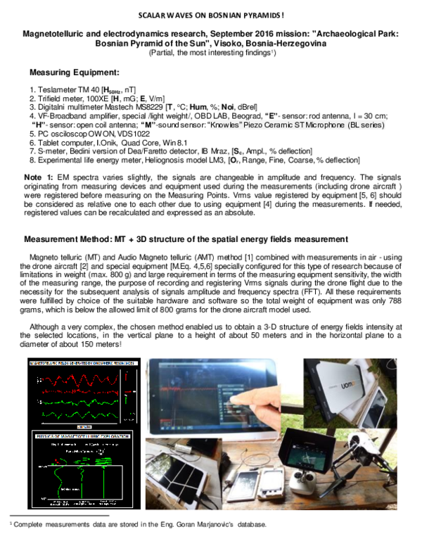 PDF) SCALAR WAVES ON BOSNIAN PYRAMIDS | Goran Marjanovic