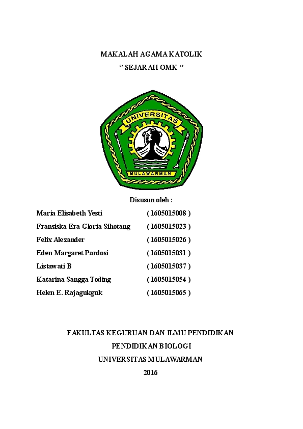 Doc Makalah Agama Katolik Felix Alexander Academia Edu