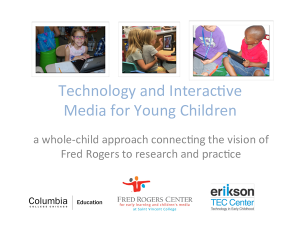 Pdf Technology And Interactive Media For Young Children A Whole Child Approach Connexting The Vision Of Fred Rogers To Research And Practice Katie Paciga And Chip Donohue Academia Edu