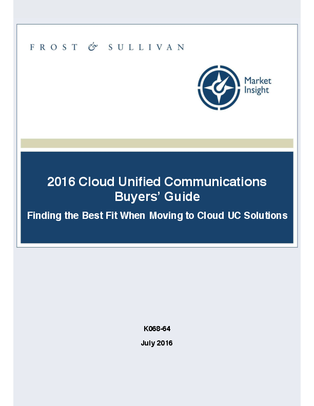 PDF) 2016 Cloud Unified Communications Buyers' Guide Finding