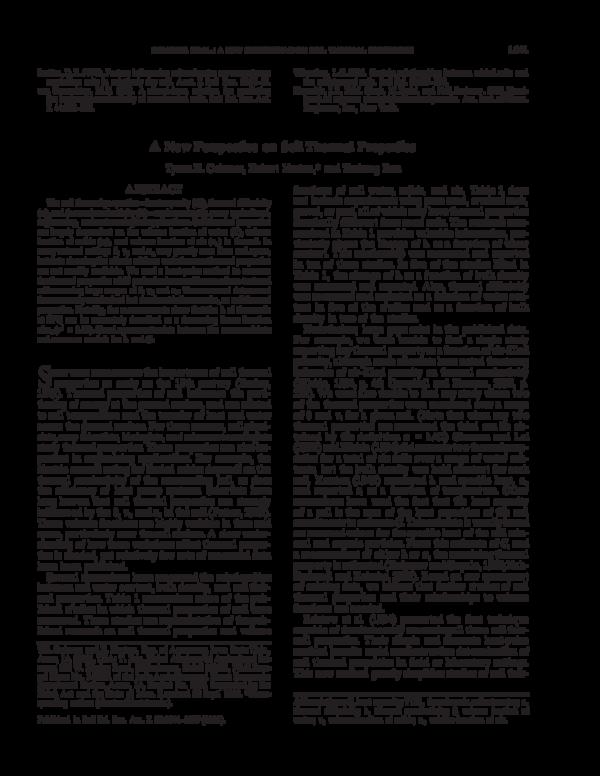 Verwonderlijk PDF) A New Perspective on Soil Thermal Properties | Tusheng Ren PX-23