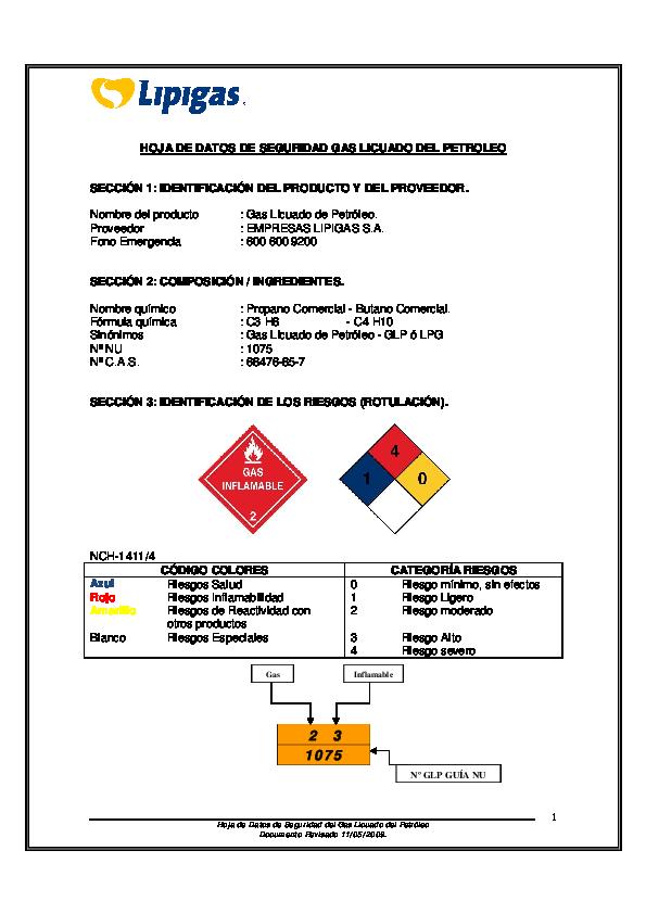 Pdf hoja de datos de seguridad gas licuado del petroleo for Estanques de gas licuado