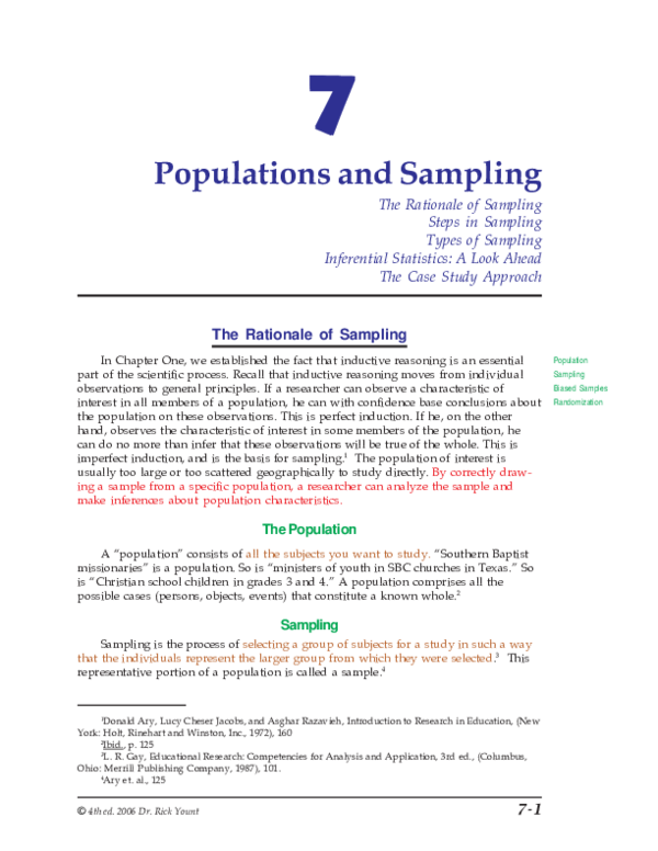 PDF) The Rationale of Sampling | Ayu Imma - Academia edu