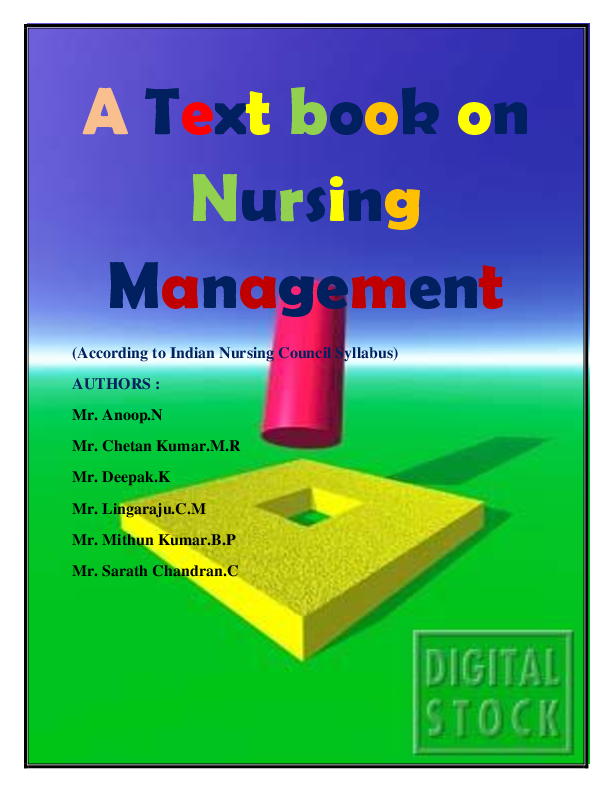 PDF) A Text book on Nursing Management (According to Indian