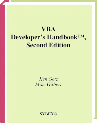 PDF) VBA Developer's Handbook™, Second Edition | Delduque Pinto
