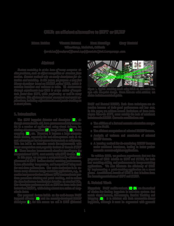 PDF) ORB: an efficient alternative to SIFT or SURF   Андрей