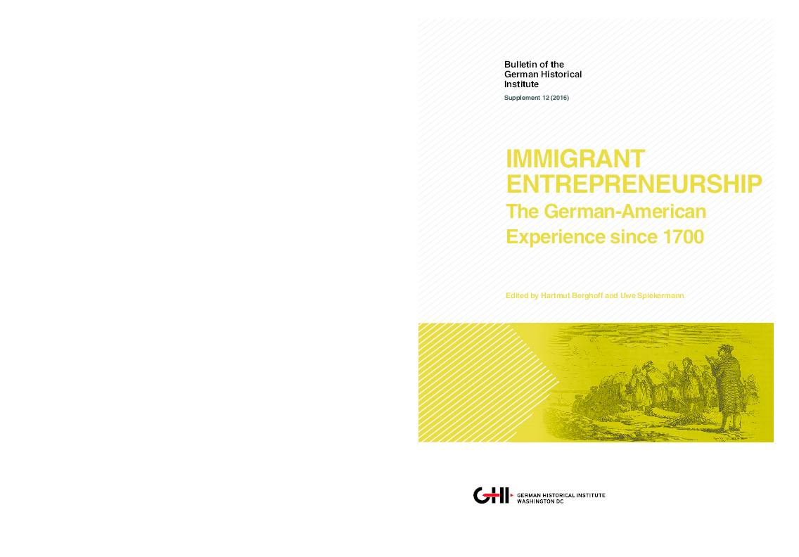PDF) Immigrant Entrepeneurship: The German-American Experience since