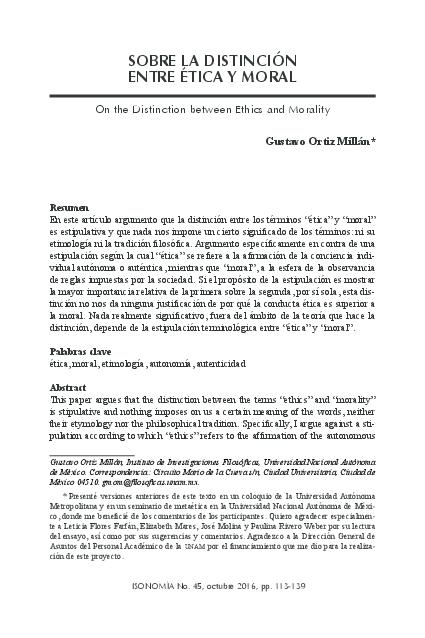 Diferencias Entre Etica Y Moral Cuadro Comparativo Pdf