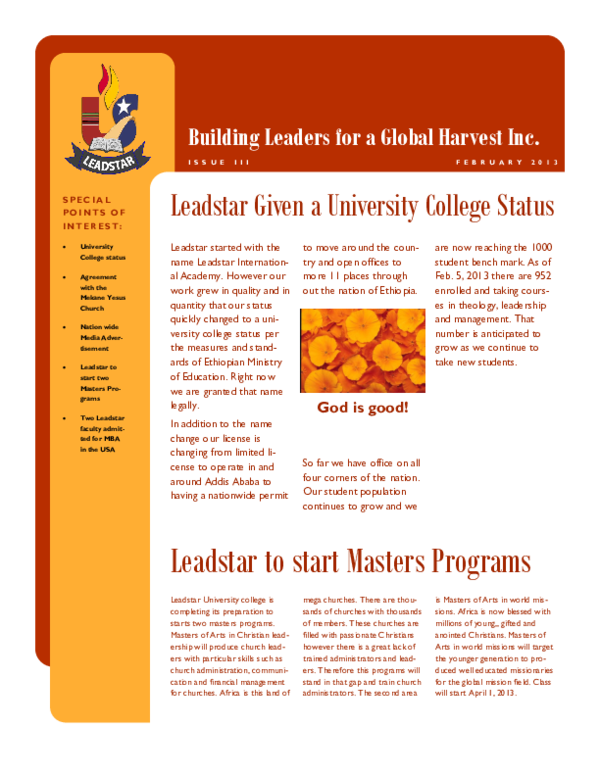 PDF) blgh-newsletter-feb-2013 pdf | Asmelash Kinfe - Academia edu