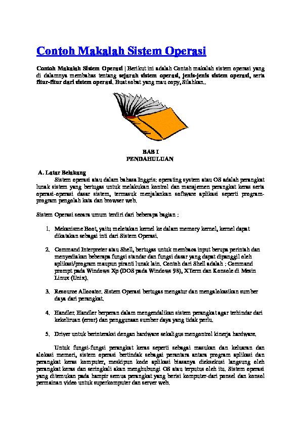 Doc Contoh Makalah Sistem Operasi Chusairi Yulianto Academia Edu