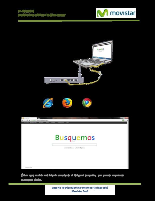 Soporte Tecnico Movistar Internet Fijo Speedy Movistar Peru
