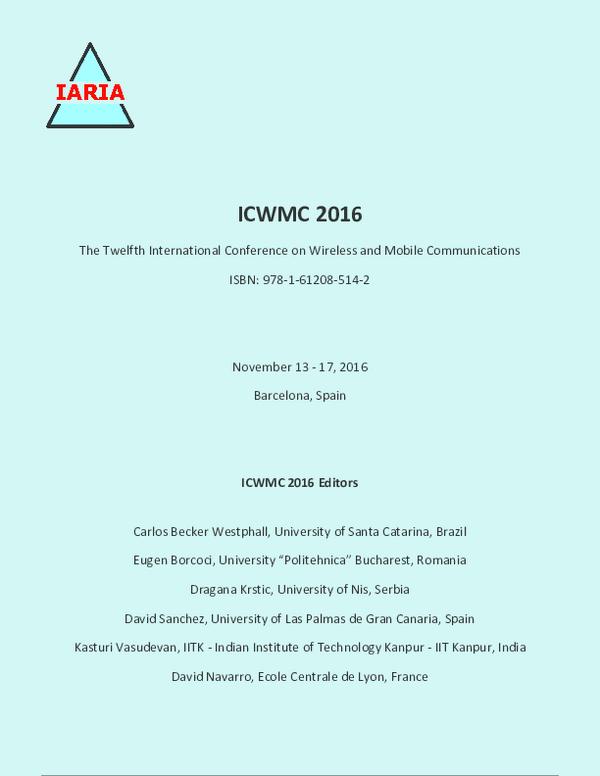 PDF) ICWMC 2016 - The Twelfth International Conference on Wireless