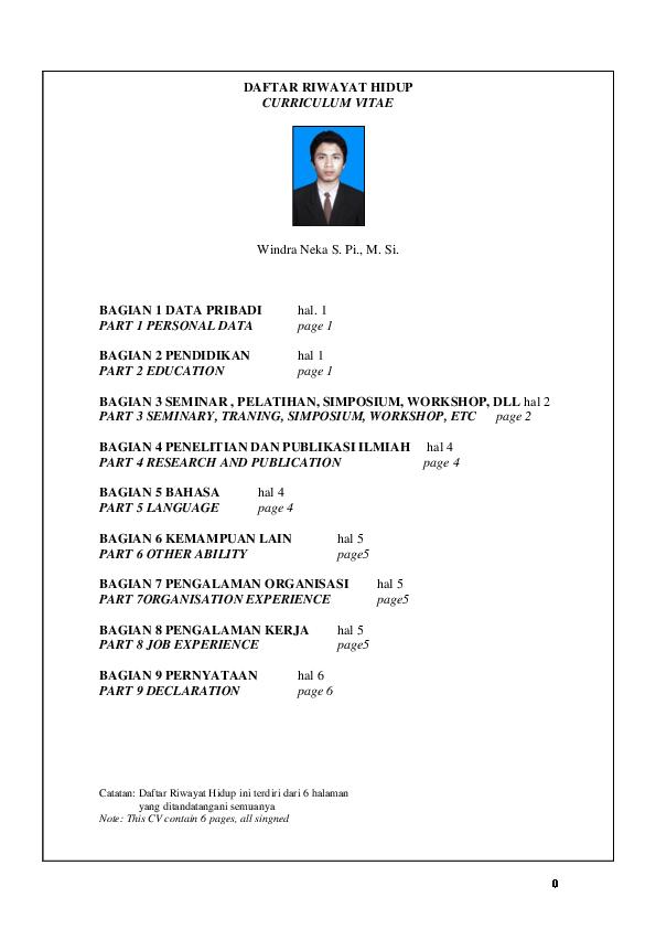 Pdf Daftar Riwayat Hidup Curriculum Vitae Ananto Pratomo Academia Edu