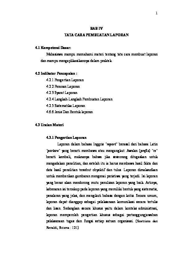 Doc Tata Cara Pembuatan Laporan Doc Ririn Liana Academia Edu