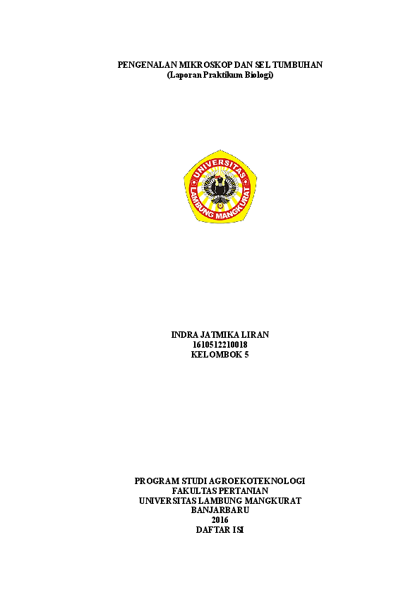 Laporan Praktikum Mikroskop Dan Sel Tumbuhan Indra Jl Academia Edu