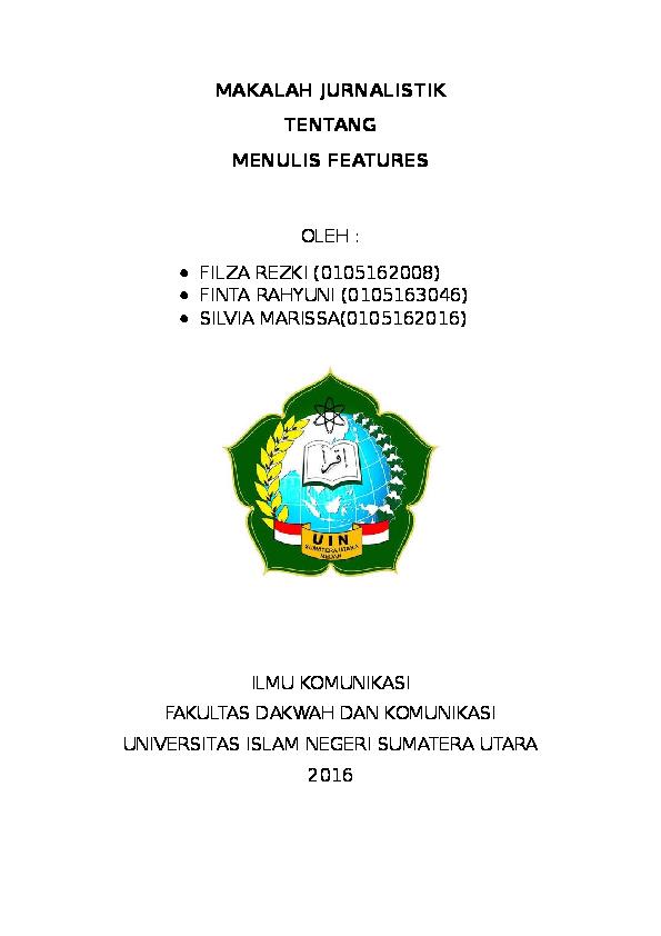 Doc Makalah Jurnalistik Riswan Nasution Academia Edu