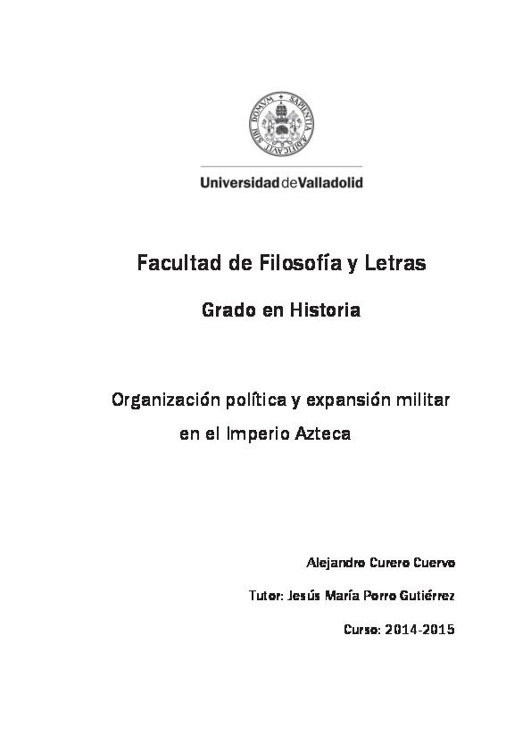 Pdf Organización Política Y Expansión Militar En El Imperio