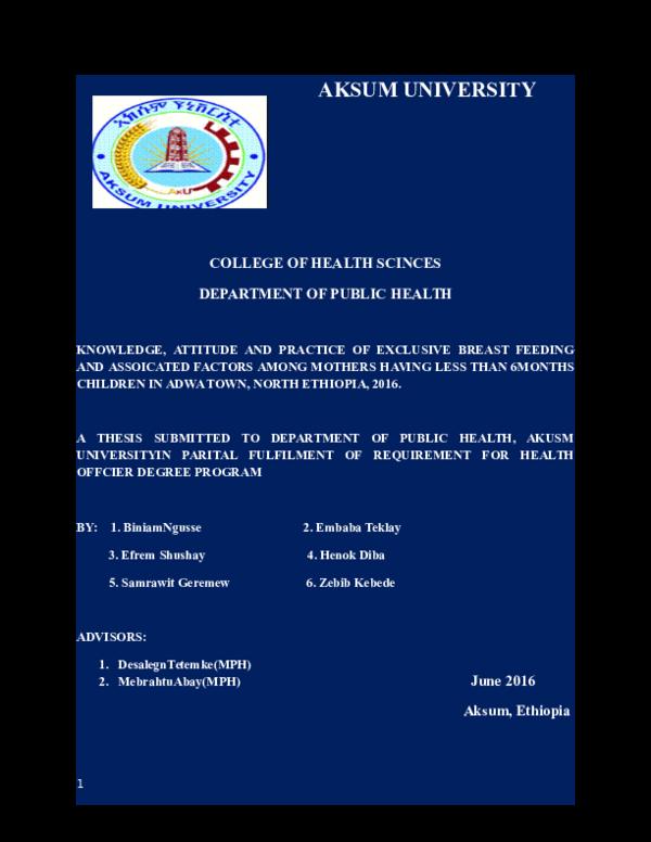 DOC) Thesis report | Mebrahtu Abay and Embeba Teklay - Academia edu