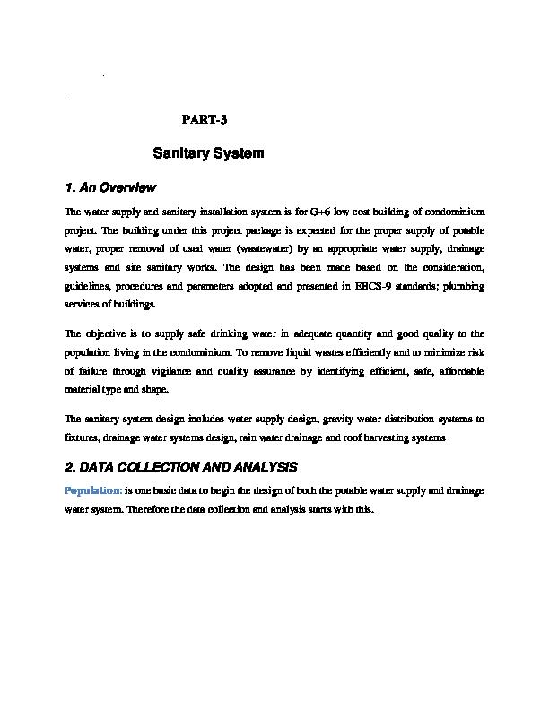Pdf Sanitary System 1 An Overview Getachew Mitiku Academia Edu