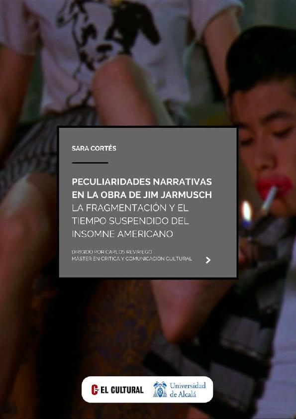 Pdf Peculiaridades Narrativas En La Obra De Jim Jarmusch La